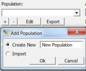 Shape Analysis - Add New Population